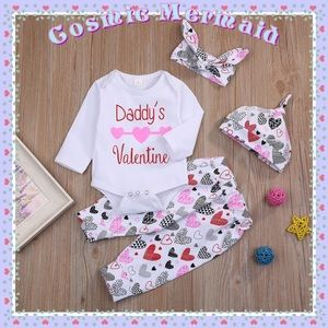 """Other - ❤️SELECT SIZE⭐️""""Daddy's Valentine""""4PC Heart Set⭐️"""